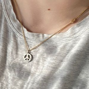 Juicy Couture Reversible Peace Necklace